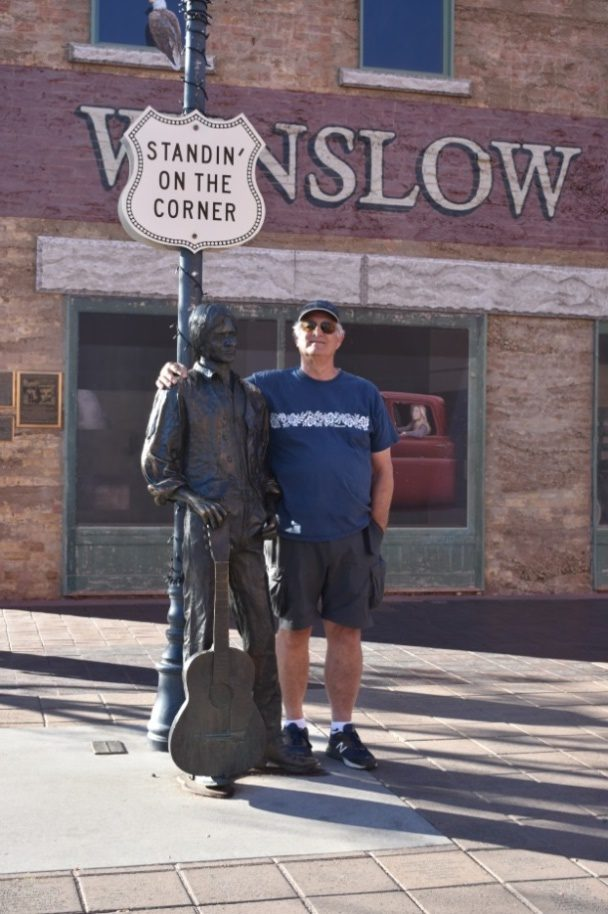 Mark Standing on the Corner in Winslow AZ